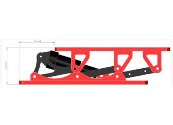 SHOCK-WBV R1 FOX EVOL Shock- Seat Suspension - Colour Red/Black