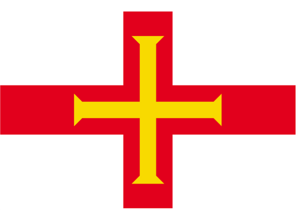 Guernsey Courtesy Flag Polyester 45 x 30cm