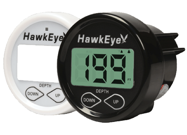 Hawkeye DepthTrax 2B Dashboard Mounted Depth Sounder with Transducer