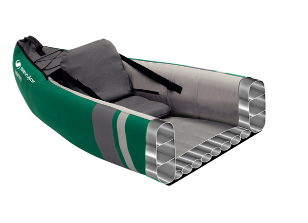 Sevylor Adventure Plus Inflatable Kayak - 2 + 1 Person with Bravo Paddles & Pump  & 2 x Baltic Canoe Buoyancy Aids - New 2020 Model