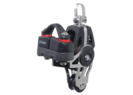 Allen 40mm Swivel Fiddle Block with Cleat 5-10mm