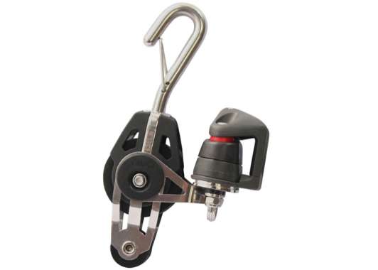 Allen 40mm Swivel Fiddle Block with Cleat & Hook 2-6mm