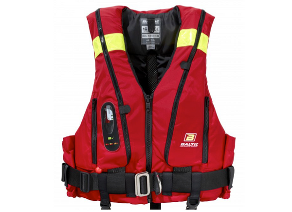 Baltic Hybrid 220 55/165N Buoyancy Aid - Manual- Black or Red - Built in Safety Harness