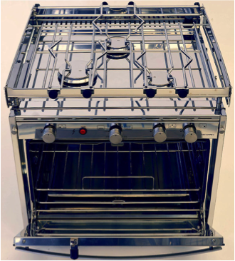 Techimpex GS 2 Soldini Collection Cooker - 2 Burner Hob, Oven & Grill