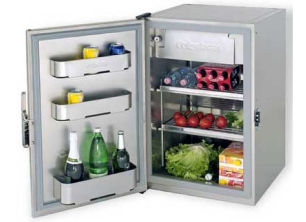 Frigoboat MS115 Stainless Fridge Cabinet with Ice Box 12/24V or with 240V- 3 Compressor Choices