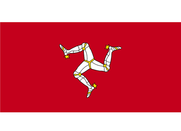 Isle Of Man Courtesy Flag Polyester 45 x 30cm