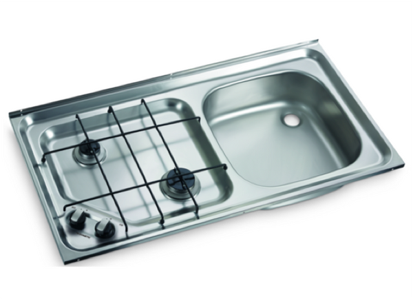 Dometic HS 2421 R Two Burner Hob and Sink Combination - 800 x 420mm