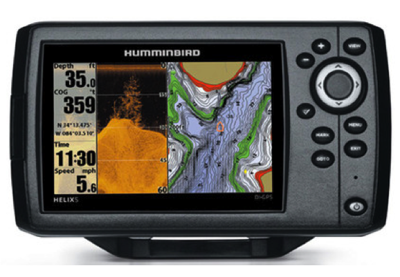"Humminbird HELIX 5 DI GPS Fishfinder/Plotter 5"" With Navionics Gold Small"