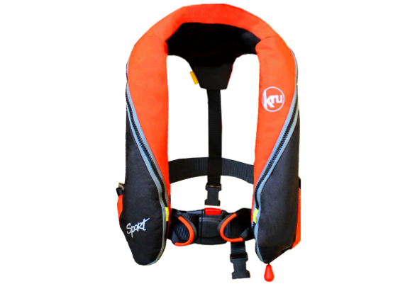 Special Offer - 2017 Kru Sport Pro 185N Automatic Lifejacket with Harness - Orange / Black- Buy 3 Get 1 Free