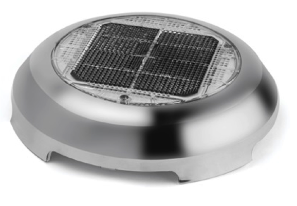 "Nicro 3"" Stainless Steel Day/Night Plus Solar Vent"