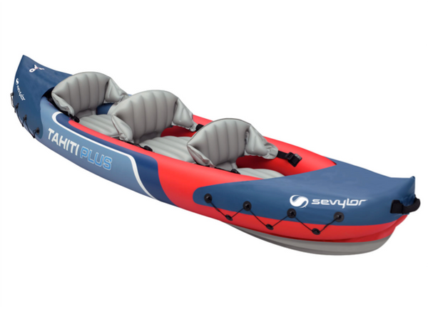 Sevylor Tahiti Plus Inflatable Kayak with 2 x Kayak Paddles & Footpump  2 + 1 Persons - 2019 Model