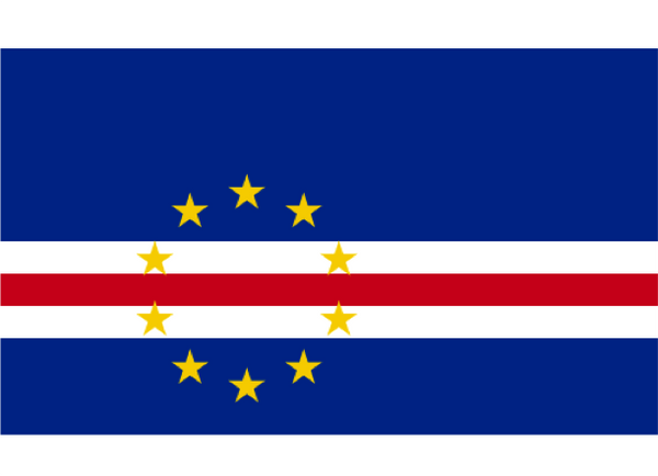 Cape Verde Courtesy Flag Polyester 45 x 30cm