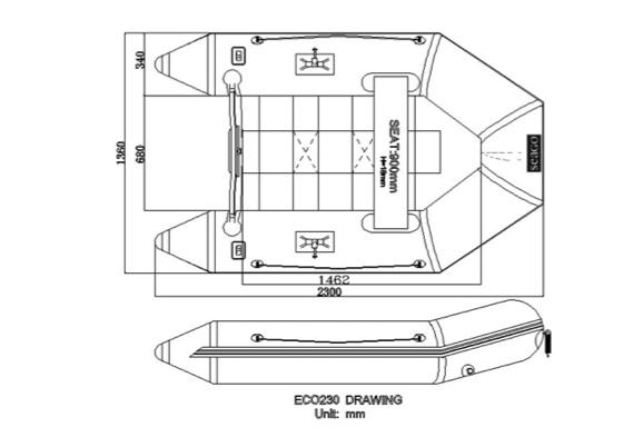 Seago ECO230 Solid Transom Inflatable Boat