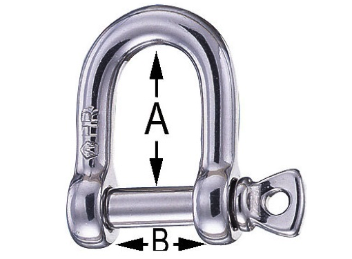 Wichard HR Stainless Steel D Shackle - All Sizes