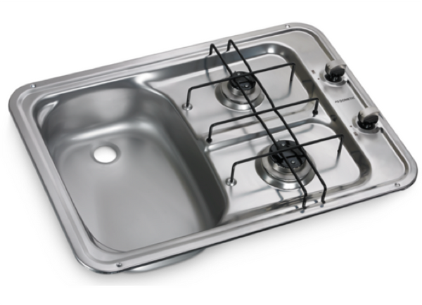 Dometic HS 2420 L Two Burner Hob and Sink Combination - 600 x 420mm