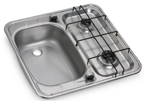 Dometic HS 2460 L Two Burner Hob and Sink Combination - 490 x 460mm