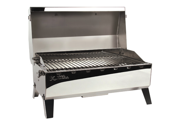 Kuuma Stow 'N' Go 160 Stainless Steel Gas Grill with EU-Style Fitting, Thermometer & Igniter