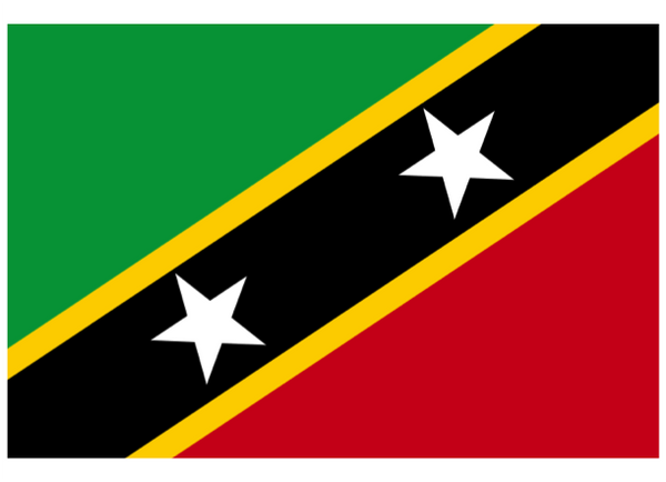 St Kitts & Nevis Courtesy Flag Polyester 45 x 30cm