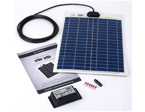 PV Logic Flexi Solar Panel Kit 20 Watt with 10 Amp Charge Controller