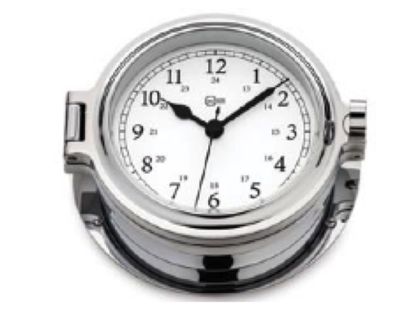 Barigo Admiral Clock Chrome