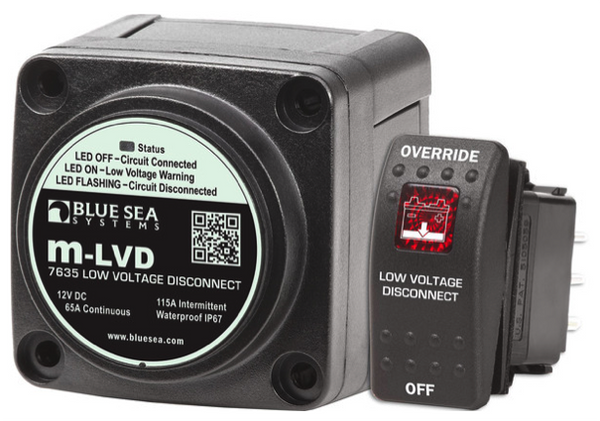 Blue Sea M-LVD Low Voltage Disconnect 65A 12V