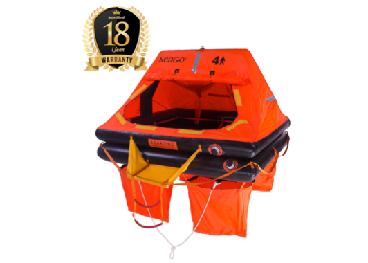 Seago Sea Master ISO 9650-1 Liferaft - Valise or Container - 3 Sizes - 18 Year Warranty