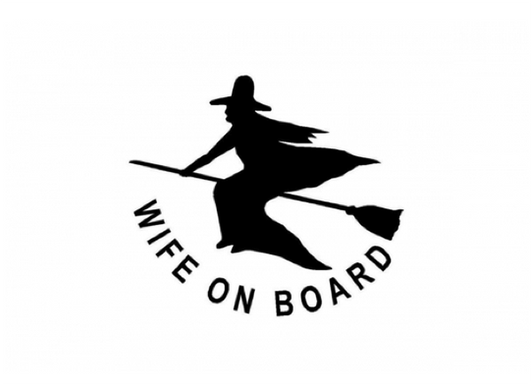 Wife On Board 45 x 30cm Polyester Flag