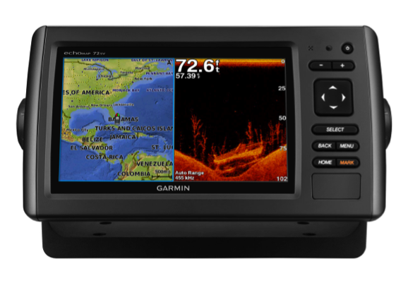 "Garmin echoMAP 75sv Chartlotter / Sonar / DownVu & SideVu 7.0"" Display - Preloaded UK + Ireland exc Txd"