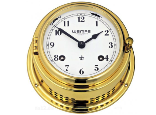 Wempe Bremen II Mechanical Bell Clock Arabic Numerals 150mm - Brass