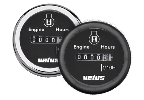 Vetus Engine Hour Counter 12V/24V 63mm