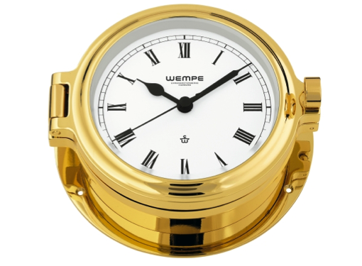 Wempe Regatta Series Porthole Clock 140mm - Gold Plated Case