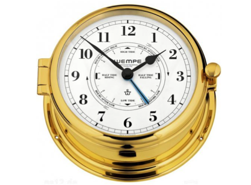 Wempe Admiral II Series Tide Clock 185mm - Brass Case