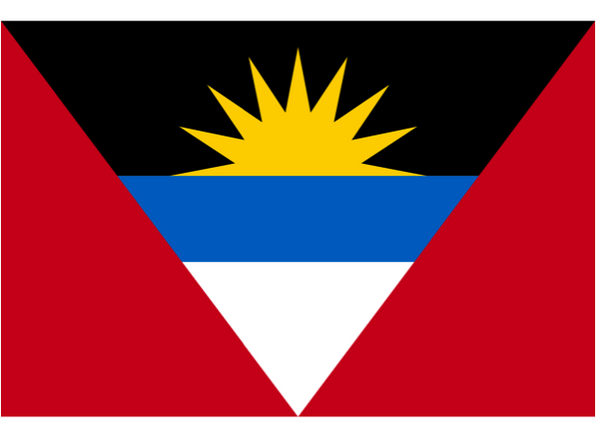 Antigua & Barbuda Courtesy Flag Polyester 45 x 30cms
