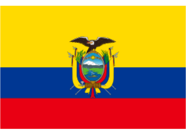Ecuador Courtesy Flag Polyester 45 x 30cms