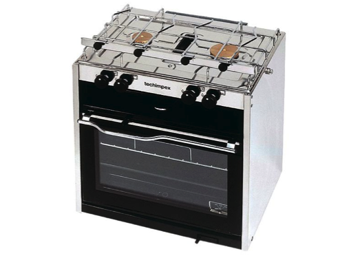Techimpex Mastergrill Gas Cooker -  2 Burner, Oven & Grill
