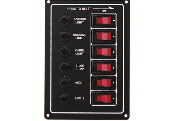 6 Way Circuit Braker Switch Panel Illuminated