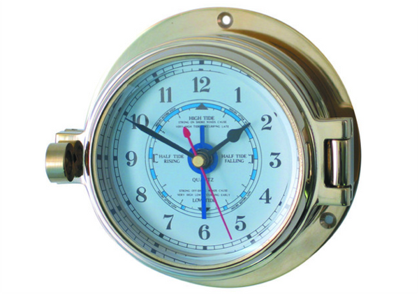Meridian Zero Channel Brass Tide Clock
