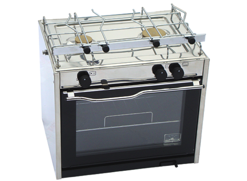 Techimpex Classic Cooker - 2 Burner Hob, Oven with Pan Holders & Gimbals