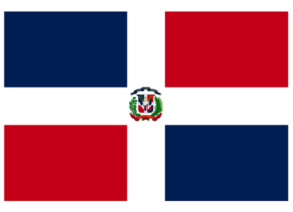 Dominican Republic Courtesy Flag Polyester 45 x 30cms