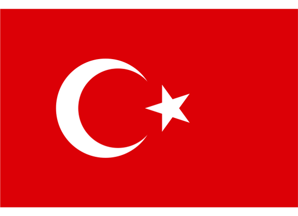 Turkey Courtesy Flag Polyester 45 x 30cm