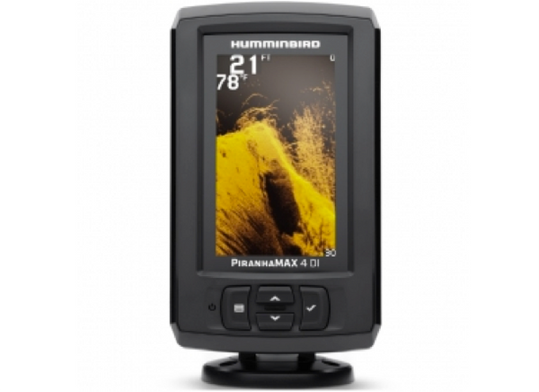 "Humminbird PiranhaMax 4 DI Down Imaging 4.3"" Fishfinder"