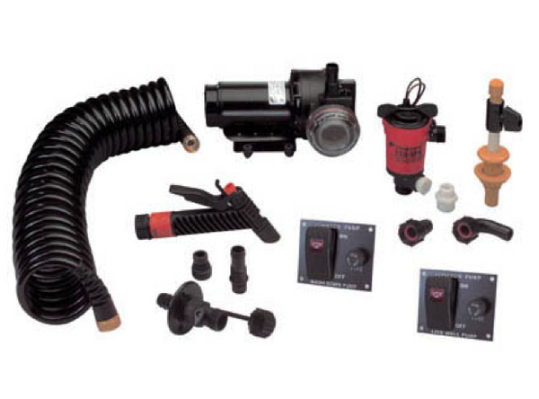Johnson Aquajet Pump Washdown Live Well Kit 12V
