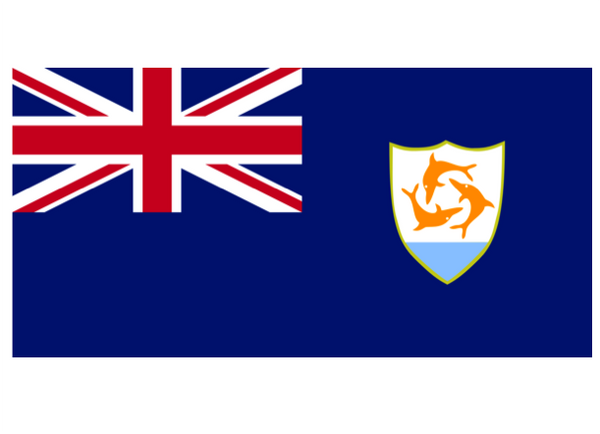 Anguilla Courtesy Flag Polyester 45 x 30cms