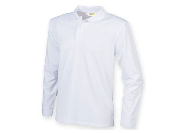 Hudson Wight Long Sleeve Tech Polo White