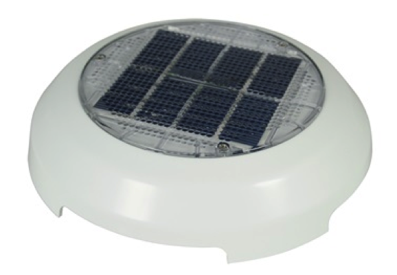 Nicro Day/Night Plus Solar Vent White  3""