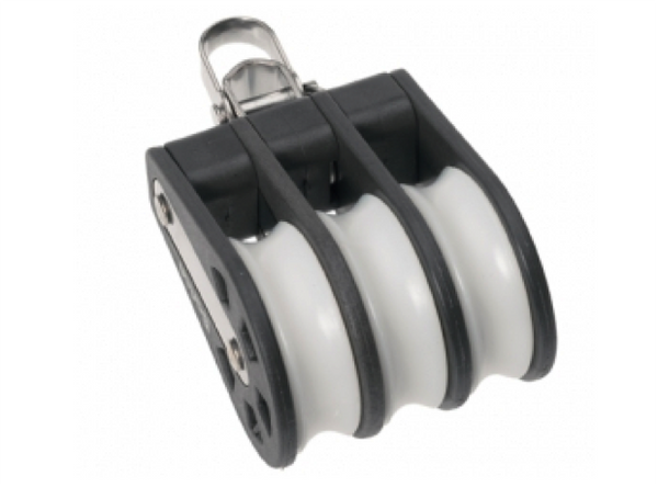 Barton Triple Block Reverse Shackle, Size 1-30mm Sheave