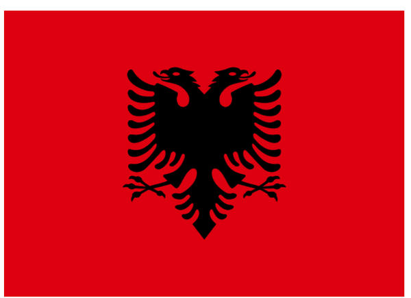 Albania Courtesy Flag Polyester 45 x 30cm
