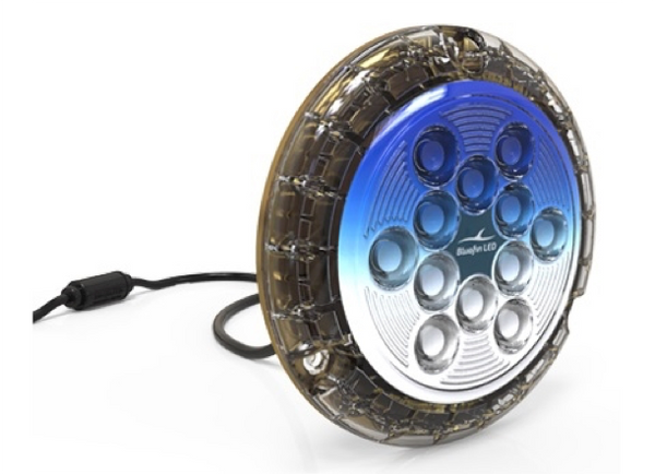 BlueFin Piranha P24 + P24 Dual Colour Surface Mounted LED Underwater Boat Lights 24V - 5 Colours