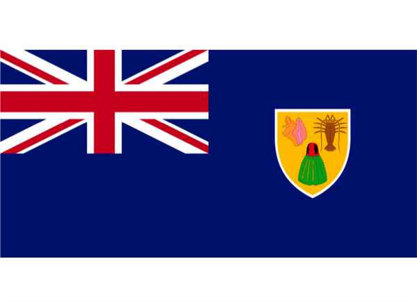 Turks & Caicos Courtesy Flag Polyester 45 x 30cm
