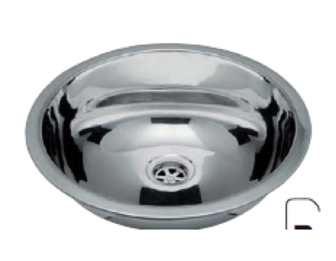 Stainless Steel Round Sink - 510mm x 395mm